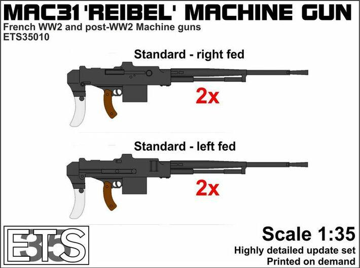 ETS35010 Reibel Machine Gun - 4x - 1:35 scale 3d printed Boxart