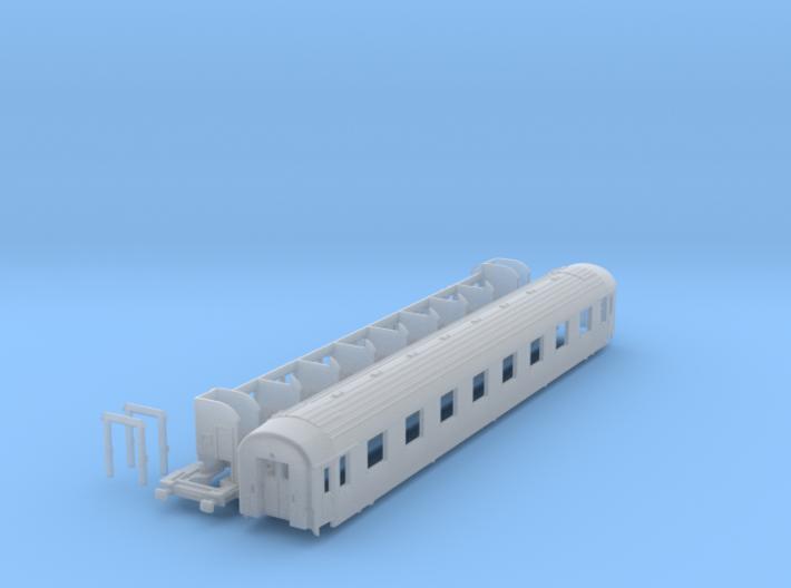 DSB class A coach N scale 3d printed