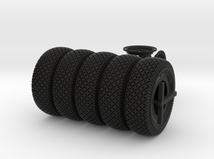 1-18 Chevy LRDG Tire And Rims 3d printed