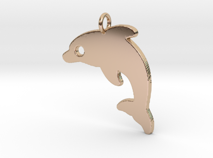Dolphin V2 Pendant 3d printed