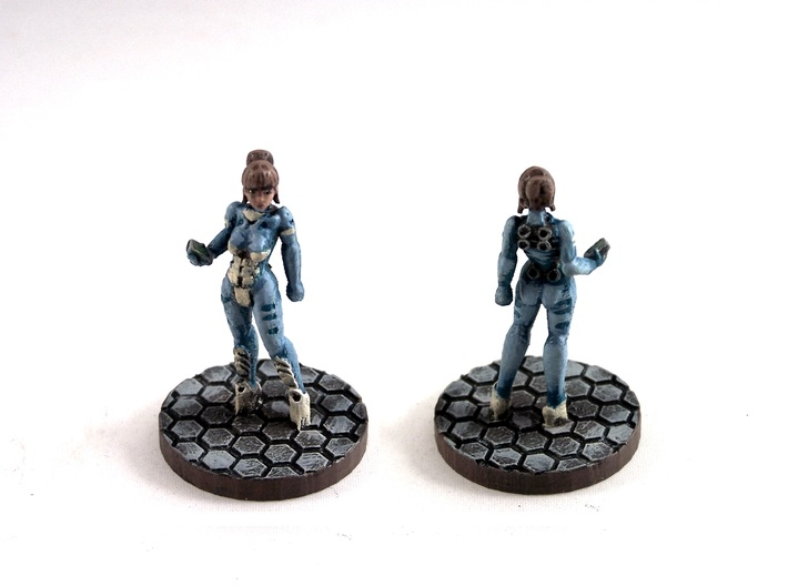Alexandra Pryce (28mm/Heroic scale) 3d printed