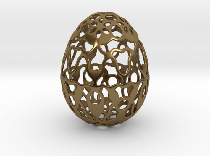Screen - Decorative Egg - 2.3 inch 3d printed