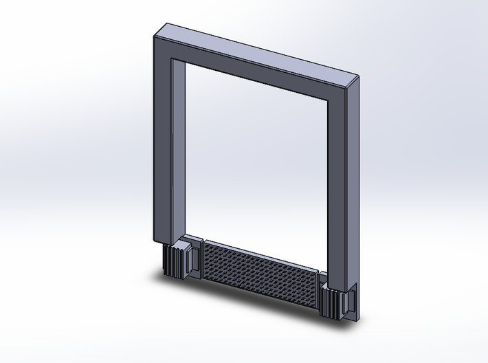 3pkg - 8x10 Roll Up Door; Open w/Leveler - Surface 3d printed