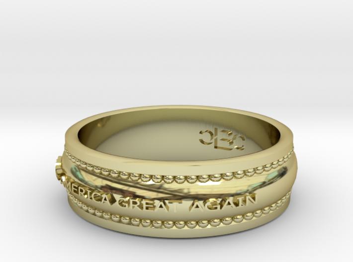 Size 10 1/2 Make America Great Again Ring 3d printed