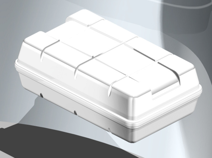 Life Raft square 1/25 (1 pc.) 3d printed Life raft in coloured, rendered view
