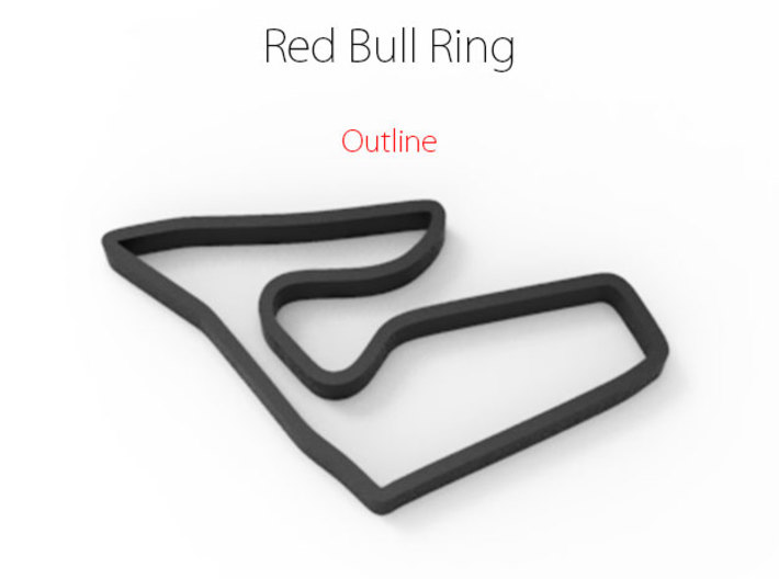 Red Bull Ring | Outline 3d printed
