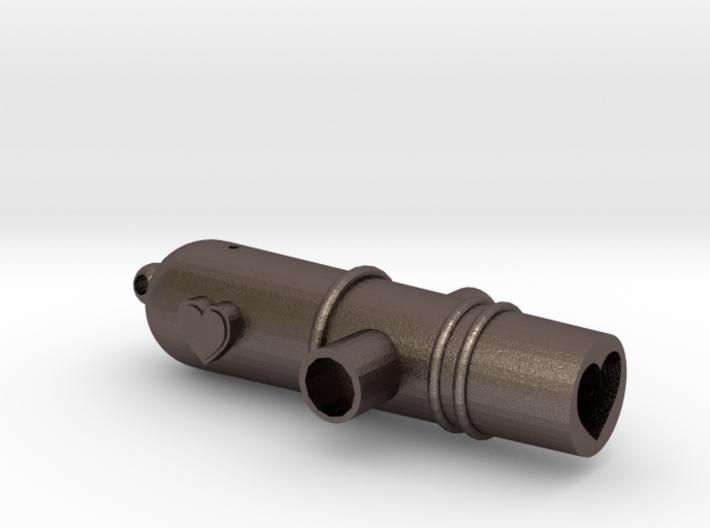 Love Gun Whistle 3d printed