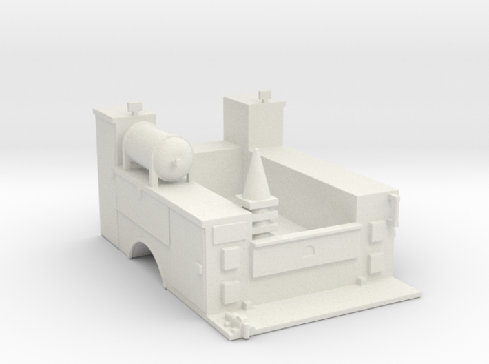 Maintenance Truck Bed 1-87 HO Scale 3d printed