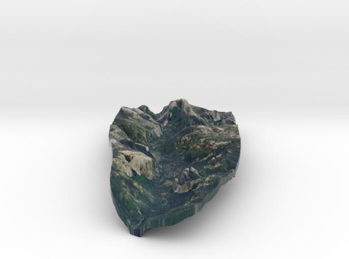 Yosemite Valley Full Color Model 1:100,000 3d printed