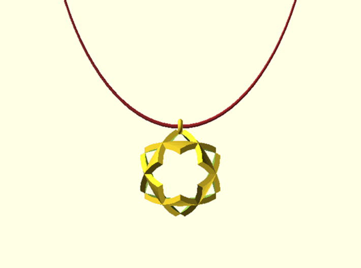 Triangles Pendant 3d printed This is a digital image. Not for sell !