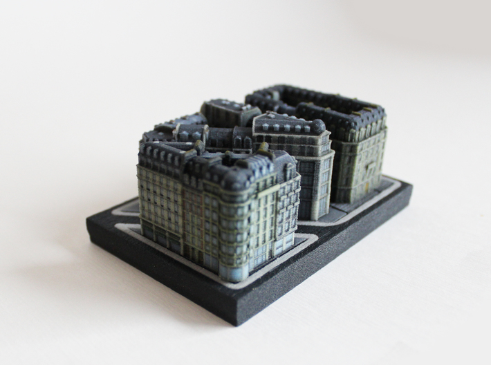 Paris Apartment Block B (2x2, 1x2) 3d printed