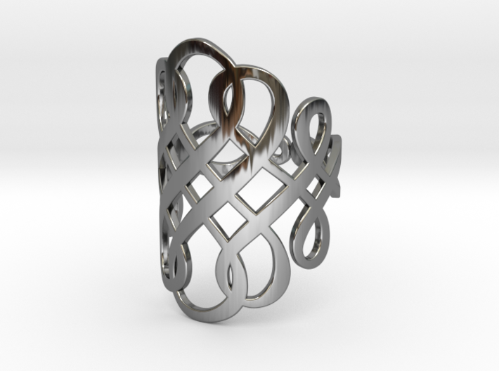 Celtic Knot Ring Size 11 3d printed