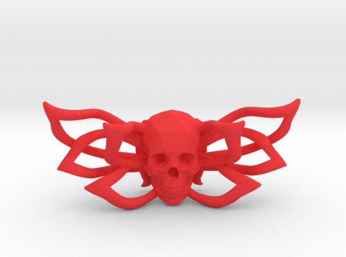 Bow tie The Skull /brooch 3d printed