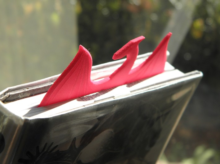 Dragon Wing Bookmark 3d printed Sticking out of Book