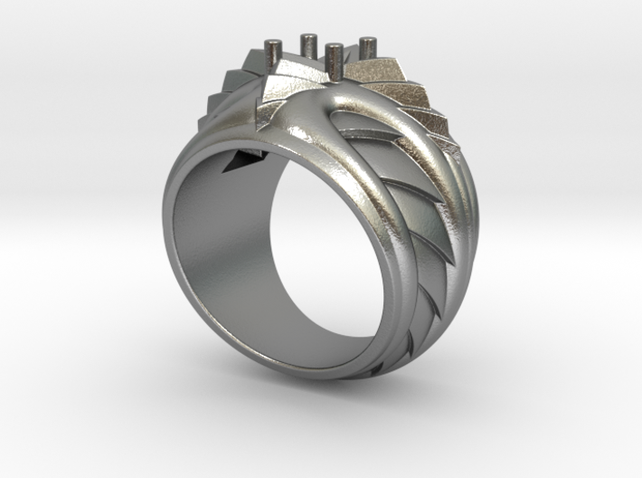 Poseidon Ring - Size 12 (21.49 mm) 3d printed