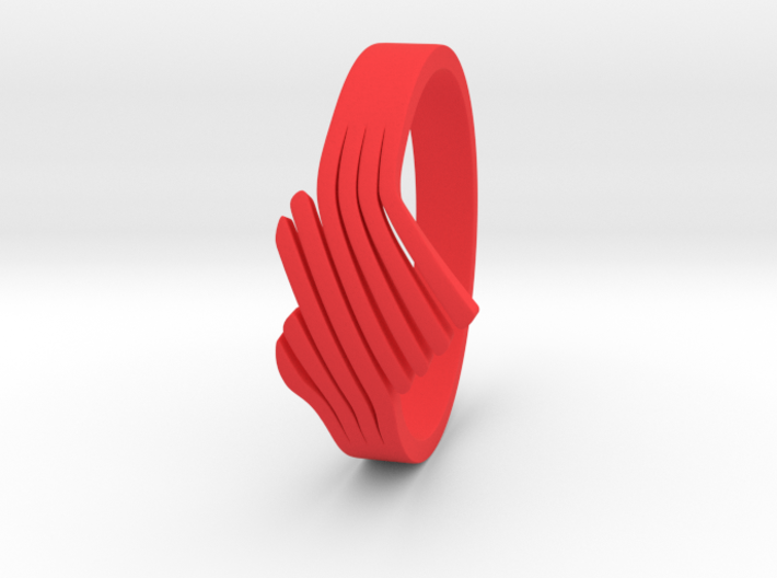 Faded heart Ring Size 6 3d printed