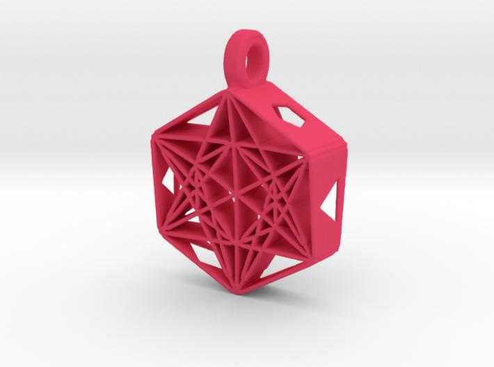 Metatrons Cube Pendant 3d printed