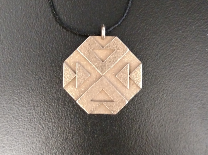 Triangles Pendant 3d printed