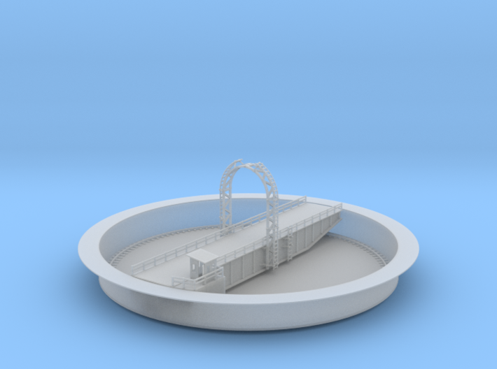 Railroad Turn Table 119ft Z Scale 3d printed 119ft turntable Z scale