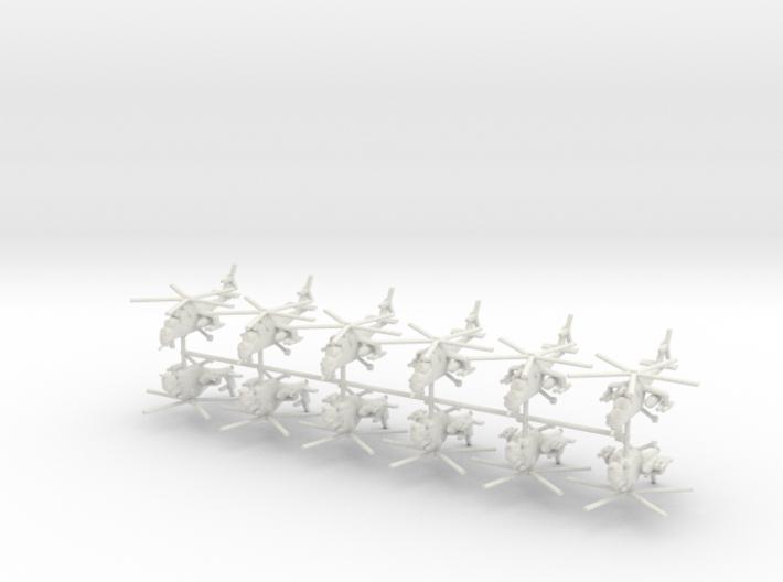1/400 Mil MI-24 Hind (x12) 3d printed