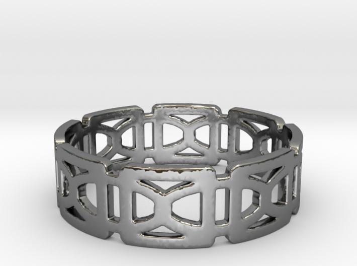 Geometric Ring Design Ring Size 8.5 3d printed