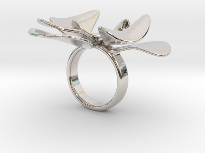 Petals ring - 20 mm 3d printed