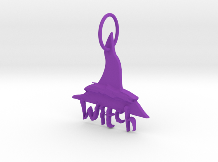 Witch Key Chain by Graphic Glee 3d printed