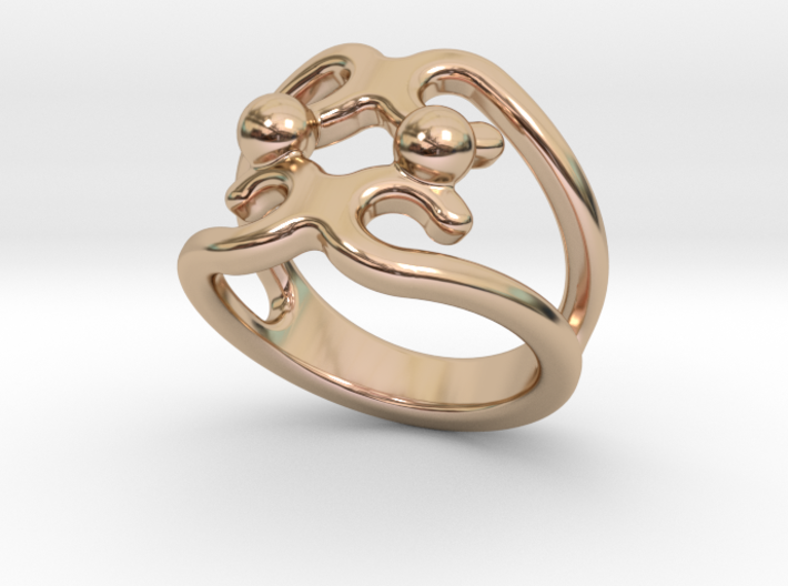 Two Bubbles Ring 21 - Italian Size 21 3d printed