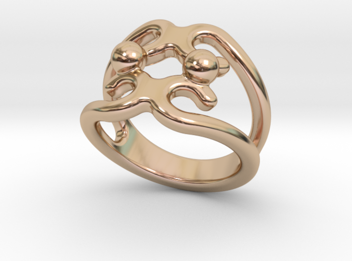 Two Bubbles Ring 28 - Italian Size 28 3d printed
