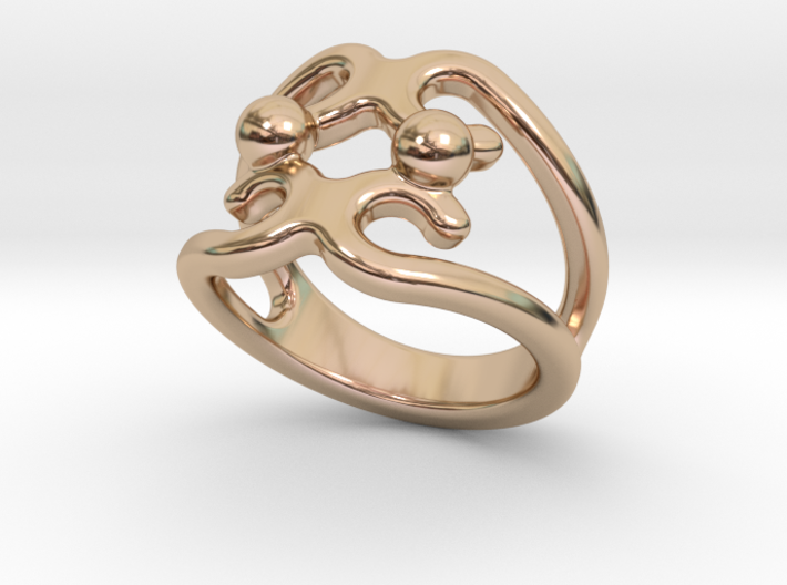 Two Bubbles Ring 30 - Italian Size 30 3d printed
