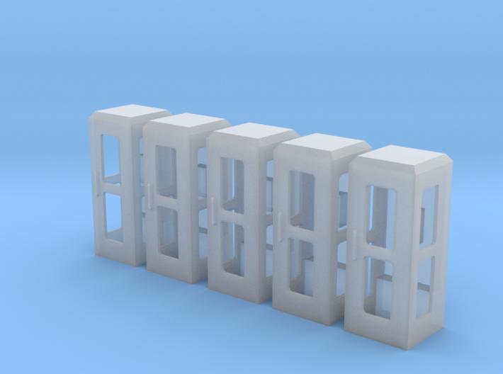 5 Telefonzelle (1:87) 3d printed
