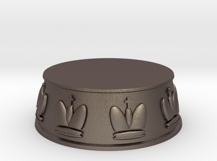 Chess King Base - 1 inch 3d printed