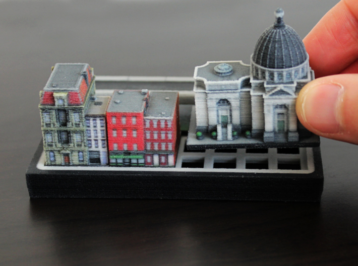 New York Williamsburg Set 3d printed