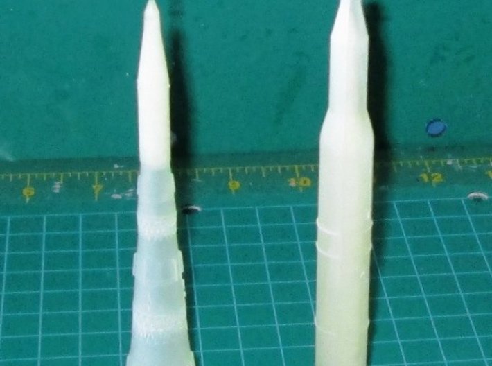 1/700 NASA Saturn 5 Rocket 3d printed