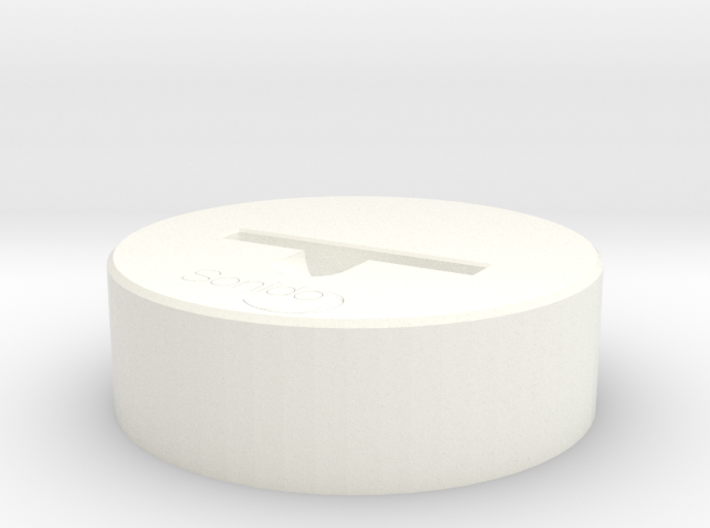 Sonido - WAVE (HQ Acoustic Speaker)  3d printed Render - White