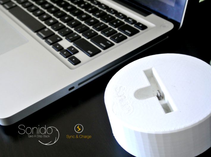 Sonido - WAVE (HQ Acoustic Speaker)  3d printed Sync & Charge