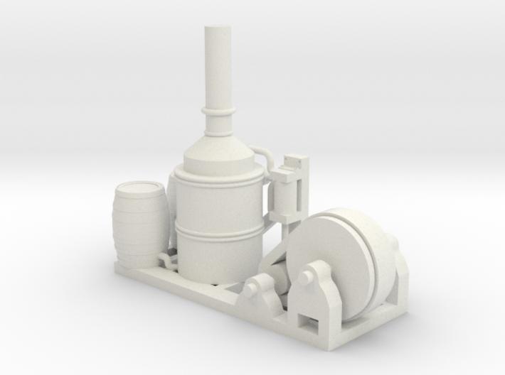 Steam Donkey - HO 87:1 Scale 3d printed