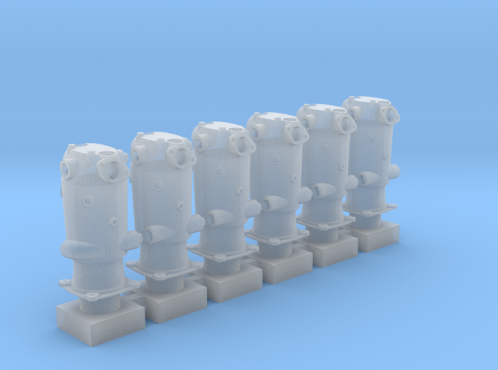 1/32 Mercedes D.IIIa Cylinders (hollow) 3d printed
