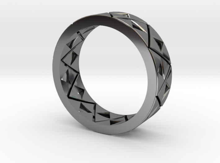 Triforce Ring Size 8 3d printed