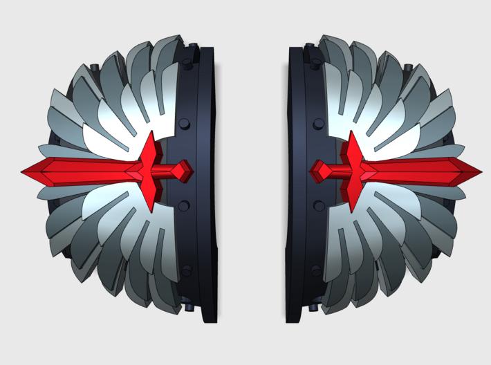 5x Angel Legion 1= Cataphractii Shoulder Sets 3d printed