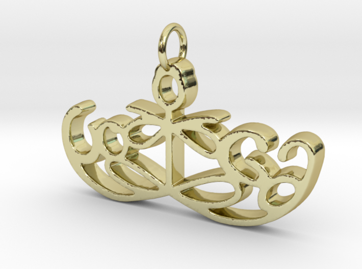 Yoga Glee Pendant Symbol and Text 3d printed