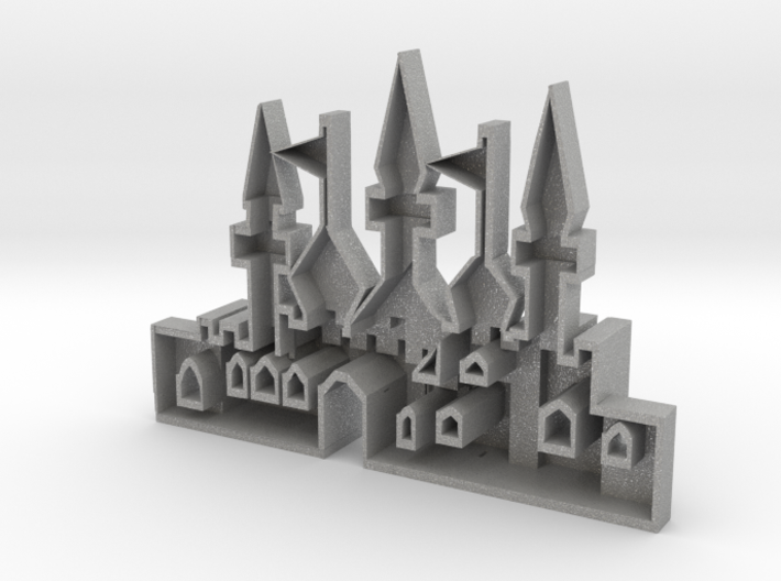 mold of an oriantal city 3d printed