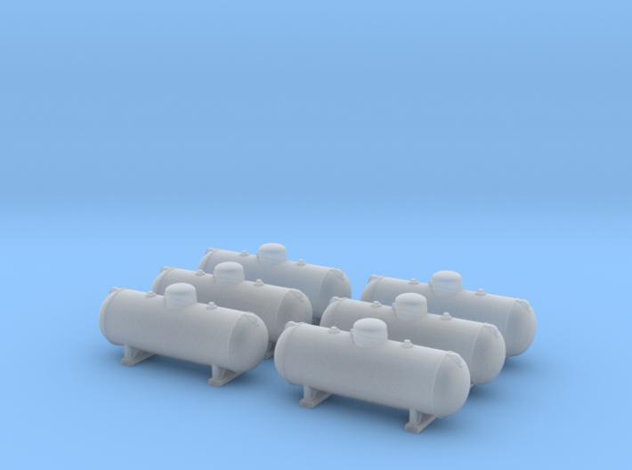 Propane tank 500 gallon. N Scale (1:160) 3d printed