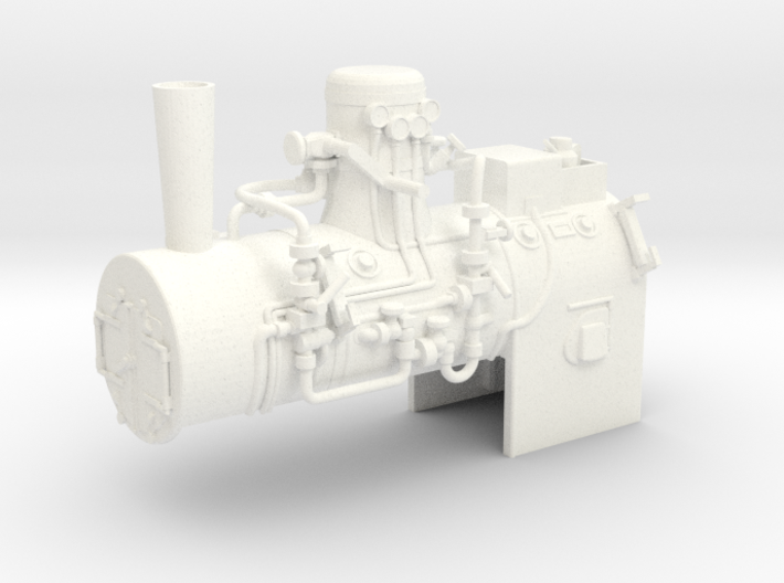 Boiler Henschel steam tram 1:45 3d printed