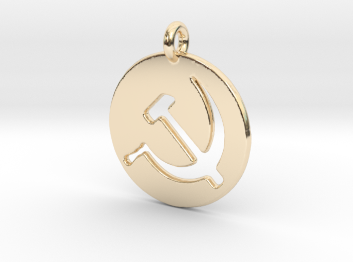 Hammer and Sickle USSR medallion 3d printed