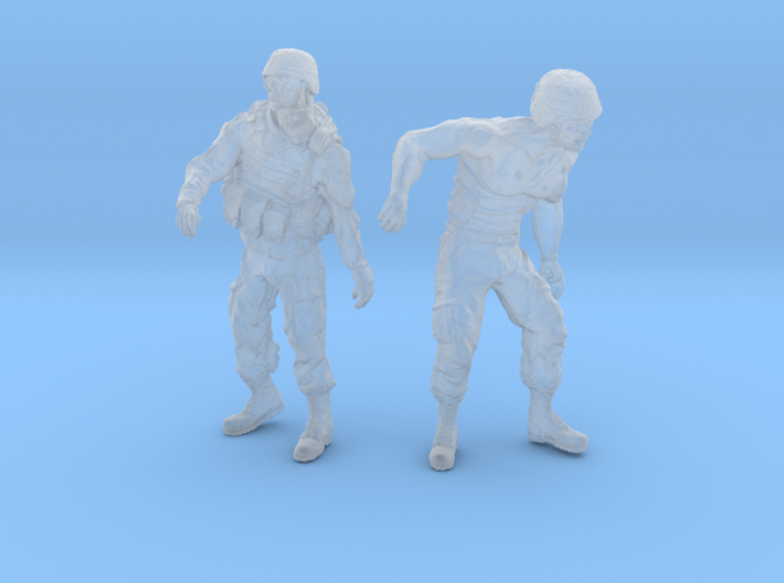 1-32 Military Zombie Set 7 3d printed