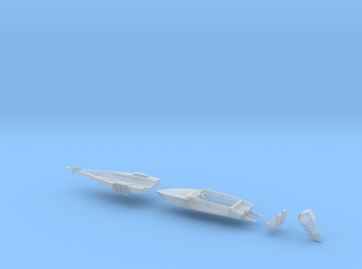 Force Boat And Trailer F21 HO 87 3d printed