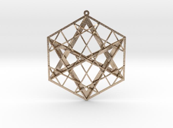 "Hexagrammaton Pendant 3"" 3d printed"