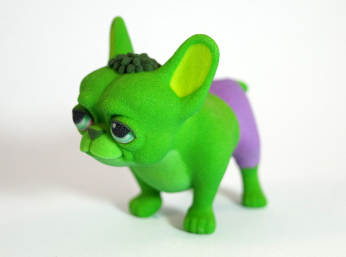 Frenchie Hulk 3d printed