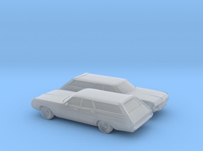 1/160 2X 1971-72 Dodge Polara Station Wagon 3d printed